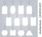 price tag blank set. empty... | Shutterstock . vector #1543521329