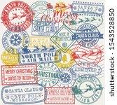 Santa Claus North Pole Stamp....