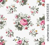 seamless floral pattern with... | Shutterstock .eps vector #1543533353