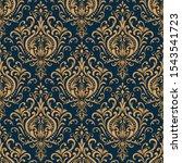 vector damask seamless pattern... | Shutterstock .eps vector #1543541723