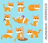 vector kawaii cats set in...   Shutterstock .eps vector #1543542113