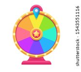 cartoon fortune wheel... | Shutterstock .eps vector #1543551116