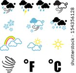 weather symbol | Shutterstock .eps vector #154356128