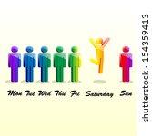 vector man week | Shutterstock .eps vector #154359413