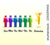 vector people week | Shutterstock .eps vector #154359443
