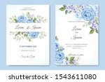 wedding card with beautiful...   Shutterstock .eps vector #1543611080