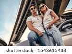 beautiful young couple in... | Shutterstock . vector #1543615433