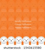 creepy ghost face and the text...   Shutterstock .eps vector #1543615580
