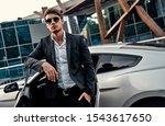 handsome young businessman in... | Shutterstock . vector #1543617650