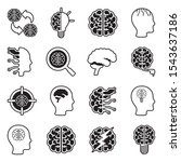 brain icons. line with fill... | Shutterstock .eps vector #1543637186