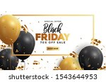 black friday sale banner with... | Shutterstock .eps vector #1543644953