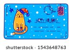 Christmas And New Year Postcard ...