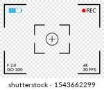camera frame viewfinder screen. ... | Shutterstock .eps vector #1543662299