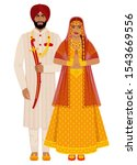 indian bride and groom in...   Shutterstock .eps vector #1543669556