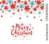 christmas greeting card with... | Shutterstock .eps vector #1543690040