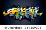bright graffiti lettering on...   Shutterstock .eps vector #154369376