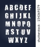 grunge alphabet. dirty painted... | Shutterstock .eps vector #154369379