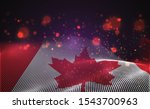 vector bright glowing country... | Shutterstock .eps vector #1543700963