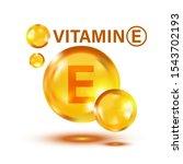 Vitamin E Icon In Flat Style....
