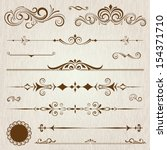 vintage frames and scroll... | Shutterstock .eps vector #154371710