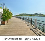 modern urban park  boardwalk | Shutterstock . vector #154373276