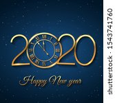 2020 happy new year background... | Shutterstock .eps vector #1543741760