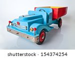 old wooden car toy  | Shutterstock . vector #154374254