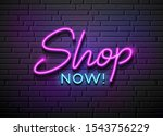 shop now neon light vector... | Shutterstock .eps vector #1543756229