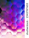 dark purple hexagonal pattern... | Shutterstock . vector #1543787603