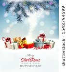 holiday christmas background... | Shutterstock .eps vector #1543794599
