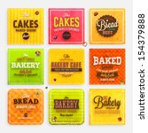 set of retro bakery labels ... | Shutterstock .eps vector #154379888