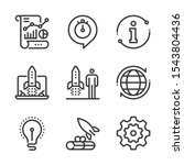 start up  bold line icons. the... | Shutterstock .eps vector #1543804436