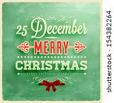 christmas typographic label for ... | Shutterstock .eps vector #154382264