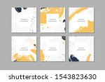 set of colorful square hand... | Shutterstock . vector #1543823630