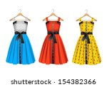 fashion dresses on hanger | Shutterstock . vector #154382366