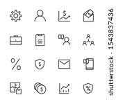set of business vector line... | Shutterstock .eps vector #1543837436