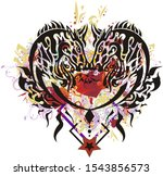 abstract colorful horse heart... | Shutterstock . vector #1543856573