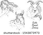 earth zodiac signs. earth... | Shutterstock .eps vector #1543873973