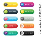 colorful set of add to cart... | Shutterstock .eps vector #154387448