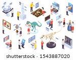 modern museum technology...   Shutterstock .eps vector #1543887020