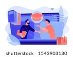 teacher with books helping... | Shutterstock .eps vector #1543903130