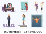 fears people. scary persons.... | Shutterstock .eps vector #1543907030