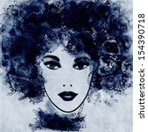 art monochrome black sketched...   Shutterstock . vector #154390718
