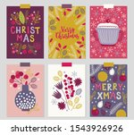 christmas greeting cards with... | Shutterstock .eps vector #1543926926