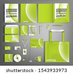 green corporate identity design ... | Shutterstock .eps vector #1543933973