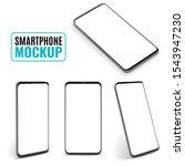 smartphone mockup. modern...   Shutterstock .eps vector #1543947230
