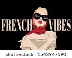 French Vibes. Paris.  Vector...