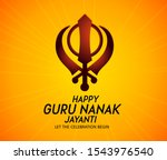 guru nanak jayanti gurpurab ... | Shutterstock .eps vector #1543976540