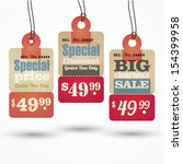 sale tag design | Shutterstock .eps vector #154399958