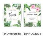 wedding floral  invite card... | Shutterstock .eps vector #1544003036